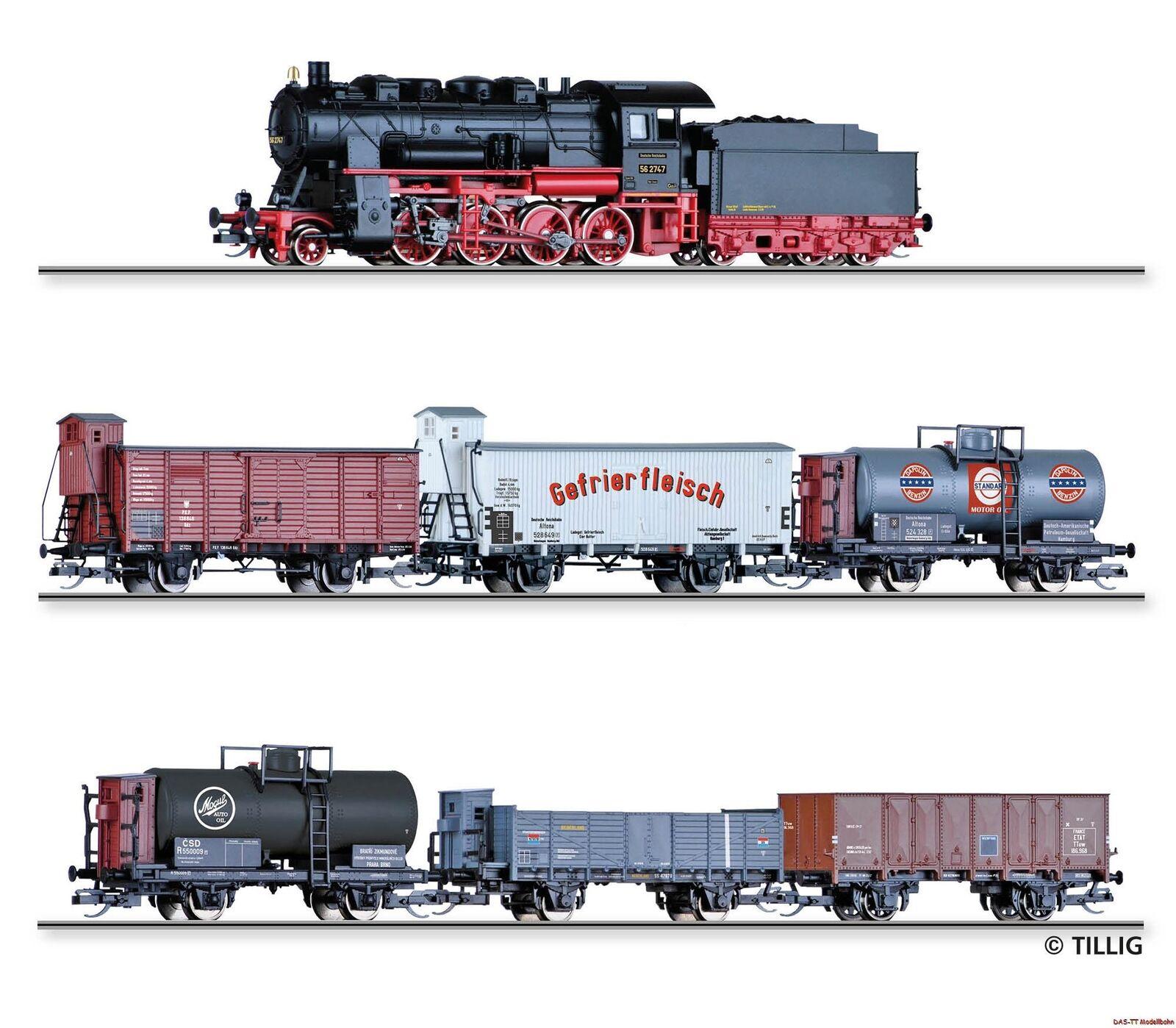 estar en gran demanda TT tren de Cochega-set br56.20 + 6 vagones DRG PKP PKP PKP CSD ns Etat EP. II Tillig 01446  70% de descuento