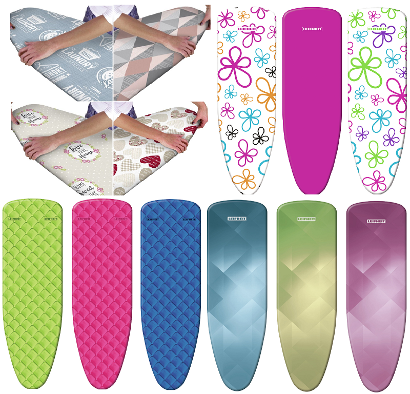 Multi Fit Elasticated Ironing Board Covers Washable Cotton Iron Easy-Fit NonSlip