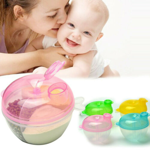 Portable Baby Infant Travel Milk Powder Dispenser Container Feeding Box Bin