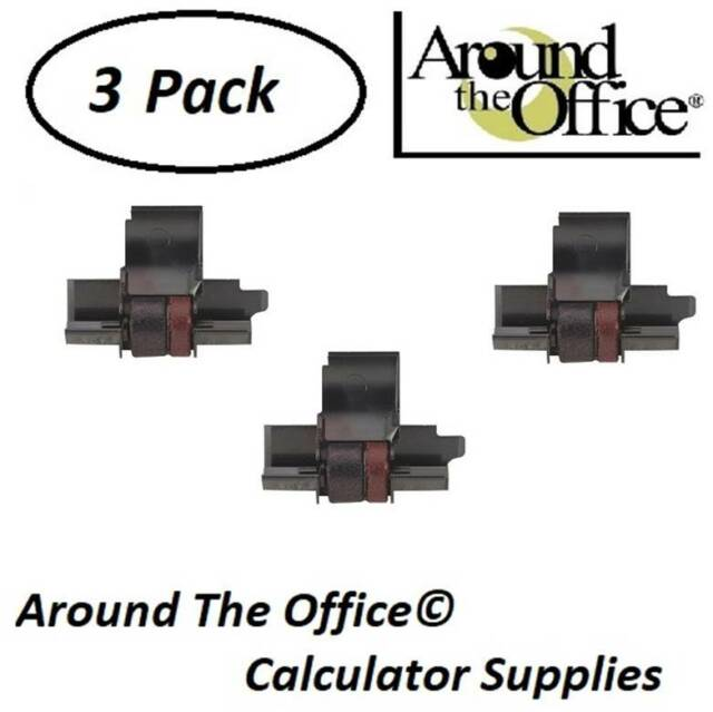 Ibico 1202 1212 1214 1215 1219 1222 Calculator Ink Roller Compatible B//R 2 PACK