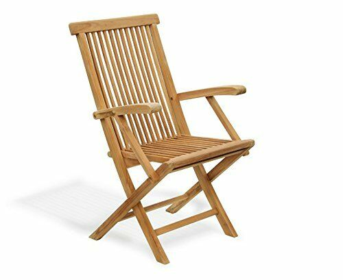 Garden Table 0.8m /& 2 Chairs Folding Set Lymington Teak Outdoor Patio Furniture