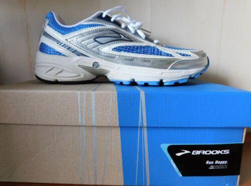 Brooks Women/'s Shoes Defyance 9D White Silver Blue NEW