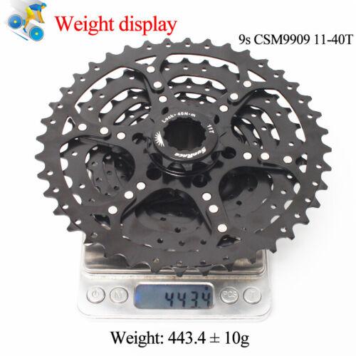 SUNRACE 8//9 Speed MTB Bike 11-40T Cogs Cassette Detachable Sprocket Cassettes