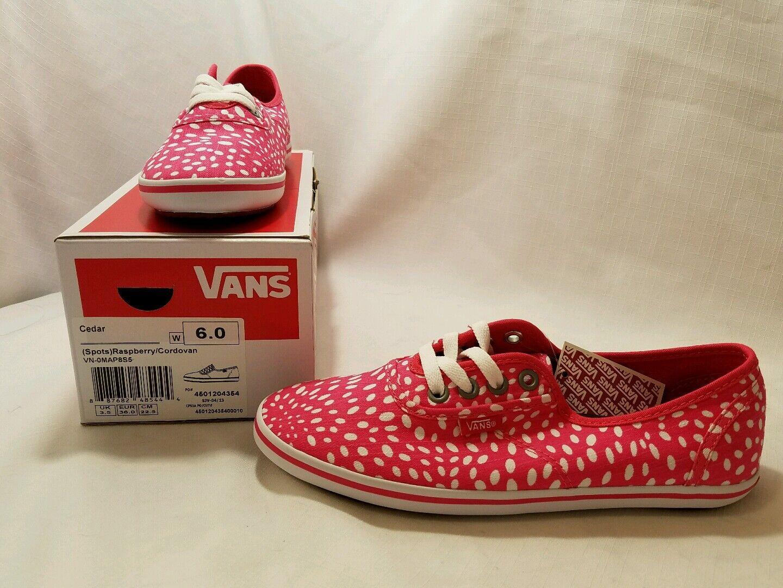 NWB Cedar (Spots) Raspberry/Cardovan Vans 6 Womens size 6 Vans 179ab9