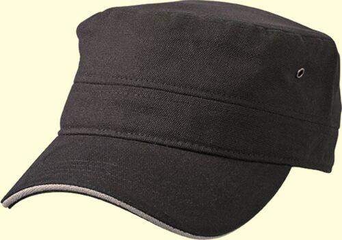 Contrast Army Cap Hat Field Hat Military Vintage Bundeswehr Canvas