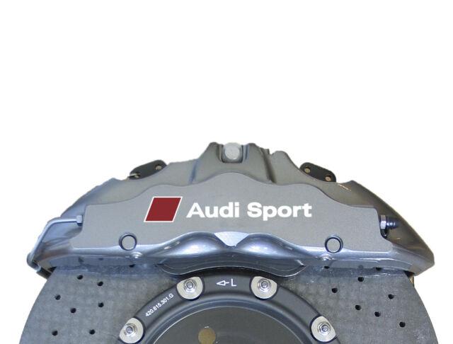 5 x Audi Sport Aufkleber für Bremssättel A5 A6 A7 RS S3 S4 TT Q5 Q7 Emblem Logo