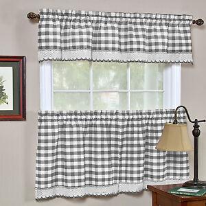 Buffalo Check Gingham Kitchen Curtains