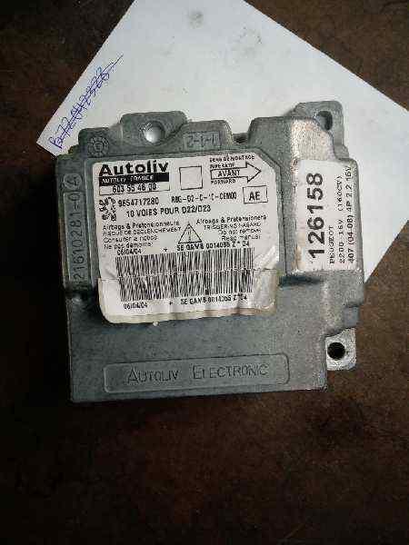 9654717280 centralita airbag peugeot 407 2.2 (158 cv) 2004 126158