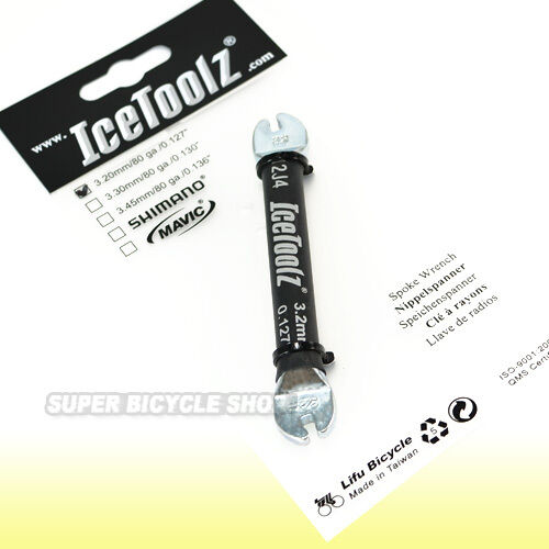 """Icetoolz Spoke Wrench For 3.20mm 0.127/"""" Nipples"""