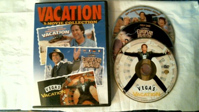 VACATION 3 MOVIE COLLECTION DVD CHEVY CHASE WIDE NEAR MINT ...