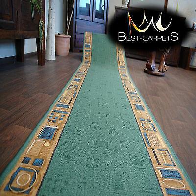 Runner Rugs Stairs Width 67cm-100cm extra long modern NON-slip CARNABY green