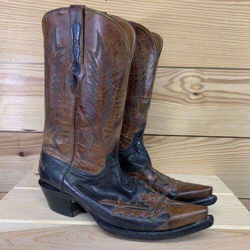 Black Jack Cowboy Boots 11B Hand Tooled Leather Bl