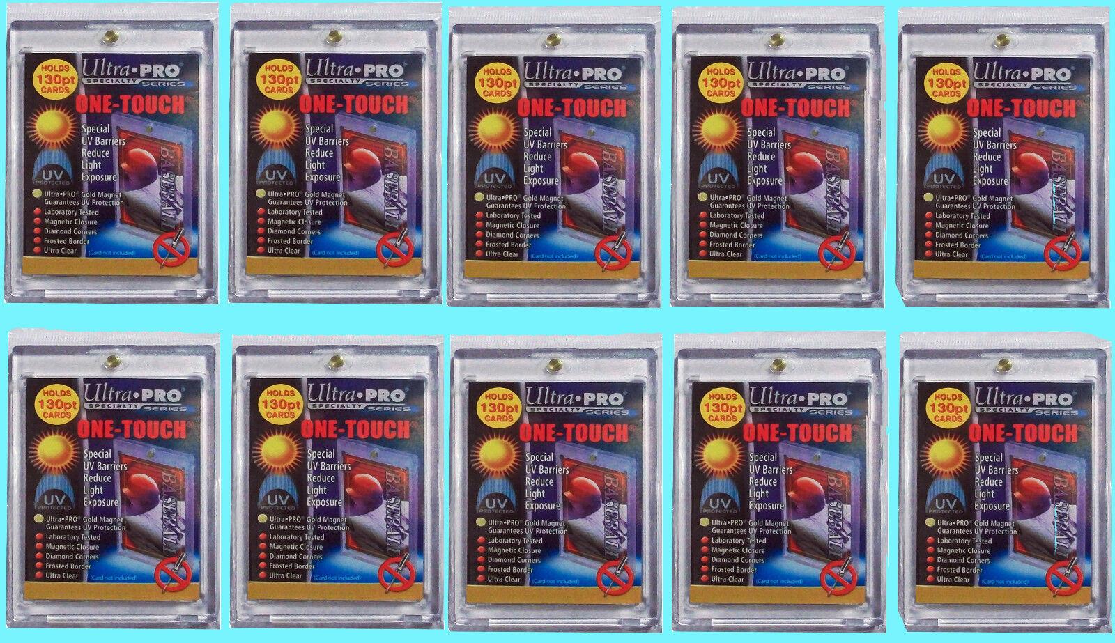 10 Ultra Pro One Touch Magnético 130pt Uv titular de tarjeta Vitrina Dos Piezas