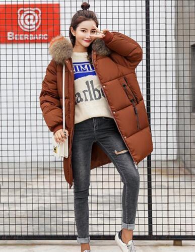 Hooded vinter Polstret Collar Bomuld Varm Outwear Loose Fur Kvinders Oversize Frakker HUqBq