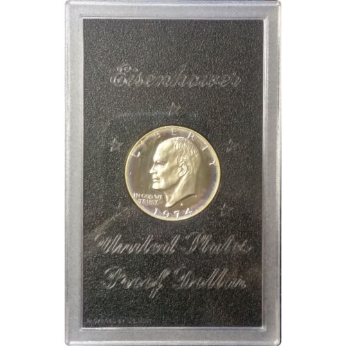 – SKU #11174 1974 40/% Silver Eisenhower Dollar Brilliant Proof