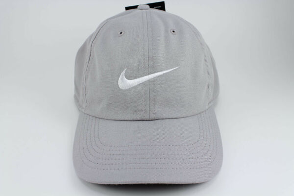 d094b5afd01 NIKE TWILL HERITAGE 86 DRI-FIT ADJUSTABLE CAP HAT WOLF GRAY WHITE TRAINING  MEN