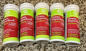 Amazing Grass Green Superfood Hydrate Watermelon Lime Tablets - Five Packs!