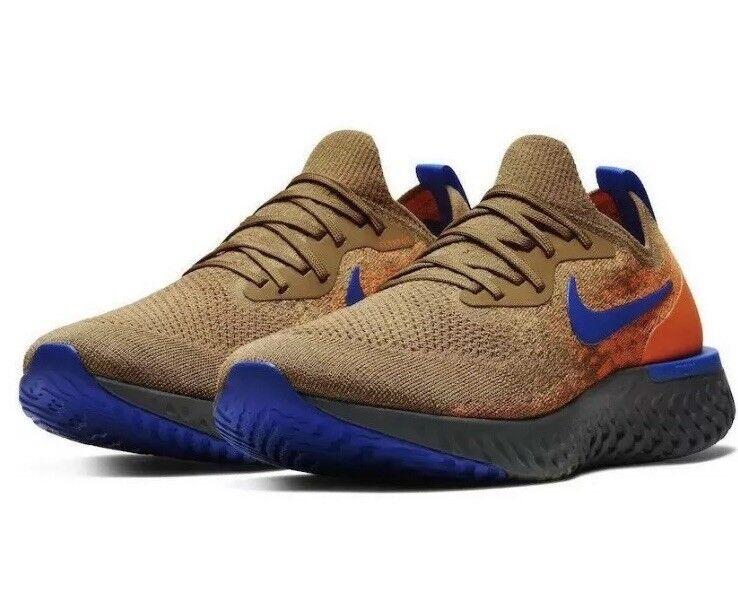253ac020a6 Nike Epic React Size 10 golden Beige Racer blueee AV8068 200 New NIB  Flyknit ntrudb8003-Athletic Shoes