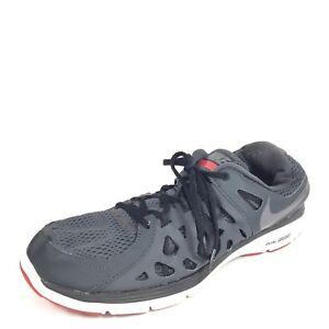 49939023534 Nike Dual Fusion Run 2 Mens Size 13 Black White Running Sneakers.