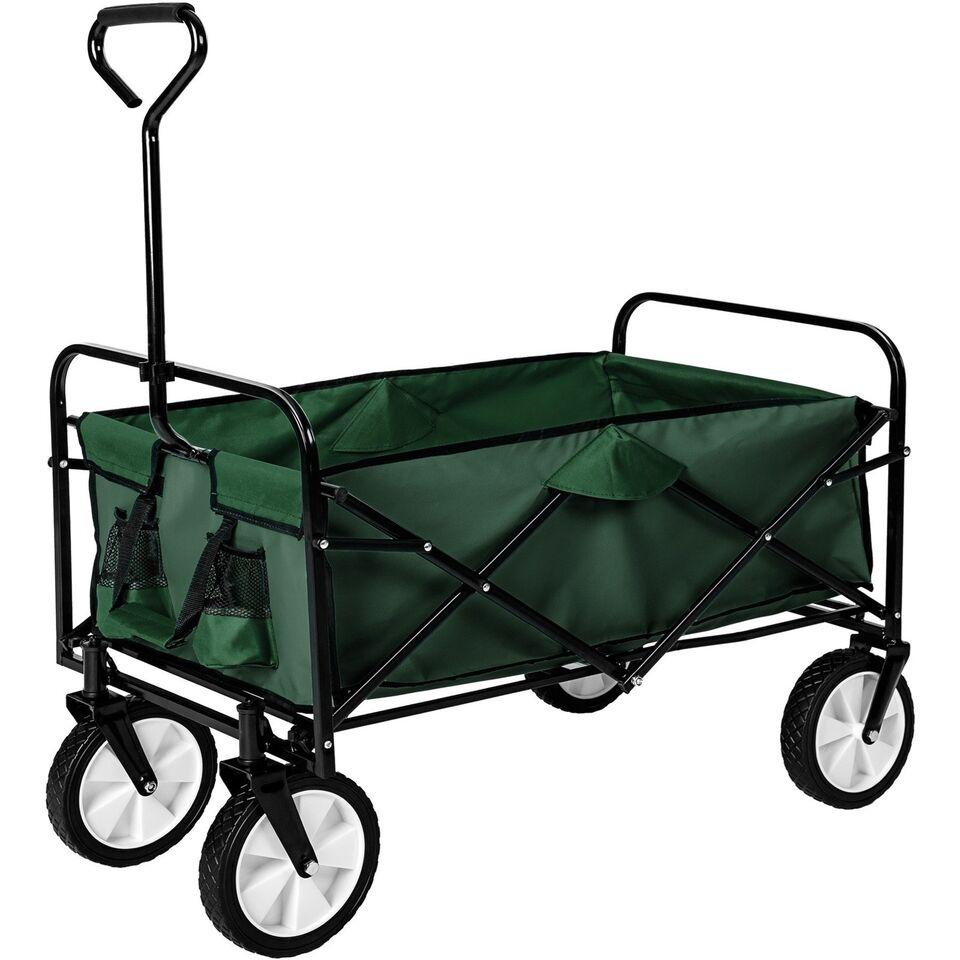 Foldbar trækvogn grøn