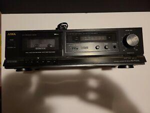 Rara-Vintage-AIWA-AD-S27U-audiphile-3-cabeza-Stereo-Cassette-Deck-como-se-lee