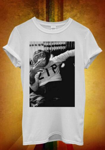 Monkey Smoking Ain`t Easy Funny Men Women Unisex T Shirt Tank Top Vest 365