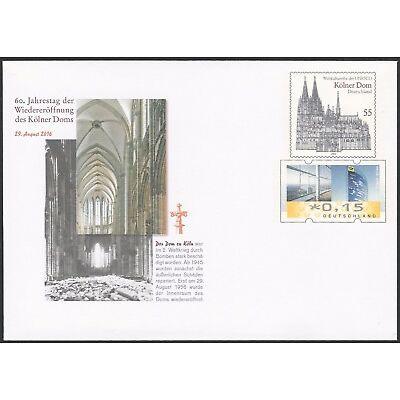 Kölner Dom - 60. Jahrestag der Wiedereröffnung - Gedenkganzsache - 70 Cent