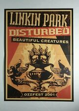 LINKIN PARK DISTURBED BEAUTIFUL CREATURES OZZFEST BAND GROUP 11x17 MUSIC POSTER