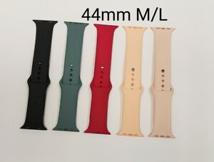 Apple Used iWatch Replacement Silicone Band, 44mm M/L, Various Colors