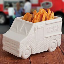 GAMAGO The Food Truck White Ceramic Dish Snack Serving Bowl Appetizer Plate Gift
