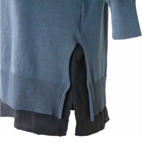 Donna Manetti pullover 36 Bruno Blu herkomst Rundhals Tgl tz8qwF