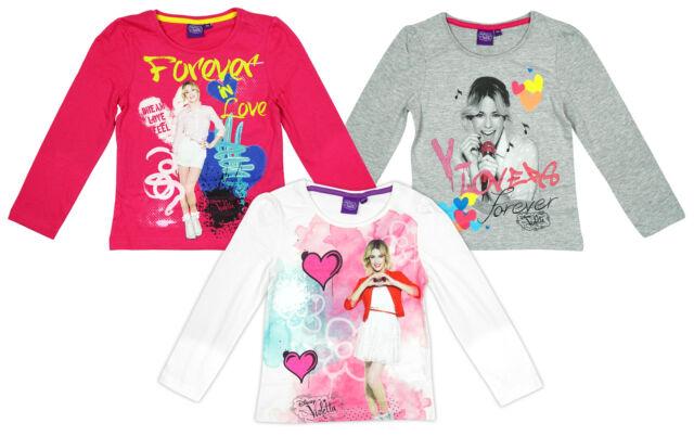 Girls T-Shirt Long Sleeve Disney Violetta Forever Love Fashion Top 6 - 12 Years