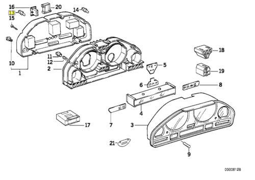 BMW Instrument Panneau Ensemble Bulb 1.2 W 12 V 1383311 62131383311