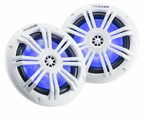 "KICKER 45KM604WL 6.5"" 150W LED Coaxial Speakers - White"