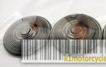 SMOKE Harley Davidson Sportster Softail Dyna Turn Signal Lens with Amber Bulb