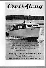 1946 Vintage Ad Cruis Along 20' Boats Built by Davis of Solomons,MD