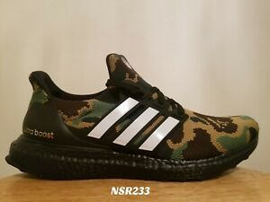 size 40 ef66f 8bae6 Details about ADIDAS ULTRA BOOST 4.0 BAPE GREEN CAMO F35097 SIZE 7 BRAND  NEW BLACK USA