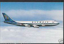 Aviation Postcard - Olympic Airways Boeing 747-200B Jumbo Jet Aeroplane  RS1487