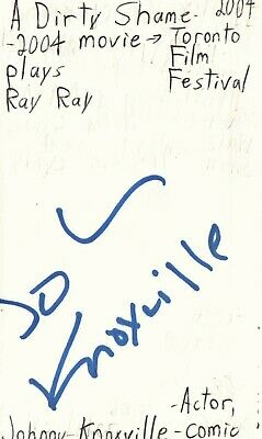 Johnny Knoxville Actor Comedian Movie Autographed Signed Index Card Jsa Coa Rapid Heat Dissipation Autographs-original