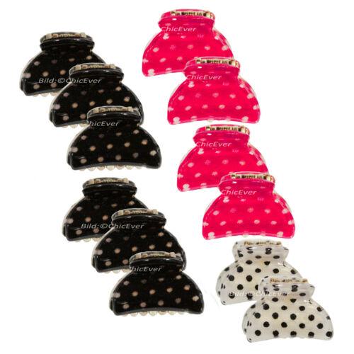 Mini haargreifer Acrylique points Pinces-set HAARKLAMMERN Noir Blanc Pink