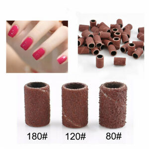 100pcs-Nail-Drill-Sanding-Bands-Machine-Replacement-Bits-File-80-120-180-US