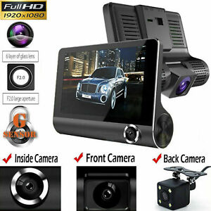Car-DVR-4-034-Dual-Lens-Dash-Cam-Front-and-Rear-Video-Recorder-Camera-G-sensor-B4H3T