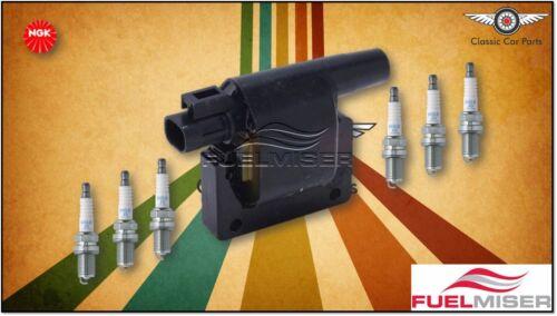 NGK Spark Plugs Pack suits Nissan Patrol GQ 3.0L RB30 Fuelmiser Ignition Coil