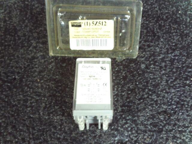 Dayton 5Z512 Relay DPDT 12amp 120vac on