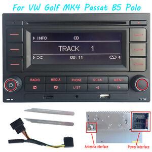 RCN210-Autoradio-mit-Bluetooth-CD-SD-MP3-USB-fuer-VW-Golf-MK4-Passat-B5-Polo
