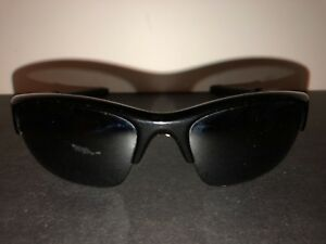 879a2552b0e OAKLEY COMMIT SQ SUNGLASSES 03-781 POLISHED BLACK FRAME W  BLACK ...