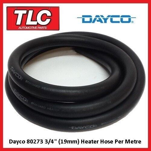 "Dayco 80273 Heater Hose 3/4"" / 19mm I.D. Per Metre Cut To Length"