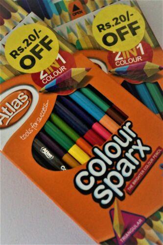Art Supply Premier 24 Colors in 12 Pieces set Artist Grade Colored Pencils 2in1