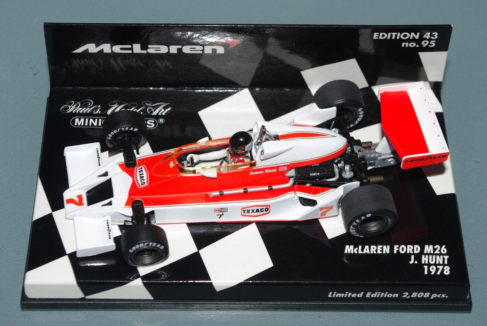Minichamps F1 1 43 McLaren Ford M26 James Hunt 1978