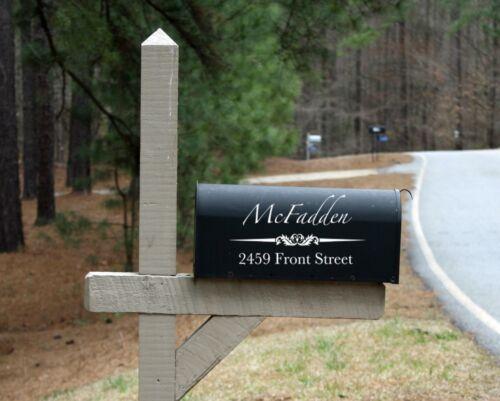 Customized Mailbox Decals Vinyl Decal Address Sticker Name